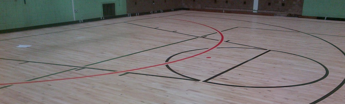 Wooden Floor Sports Lines and Court Marking in Carlisle, Cumbria